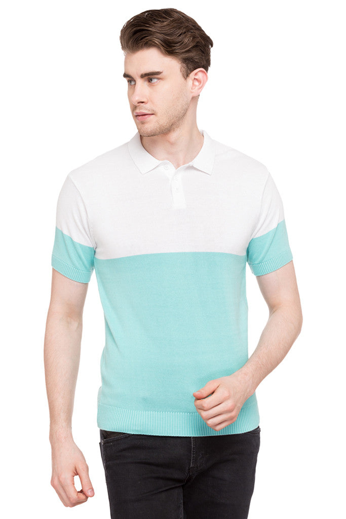 Colorblocked Polo Tee-1