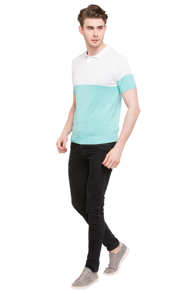Colorblocked Polo Tee-2
