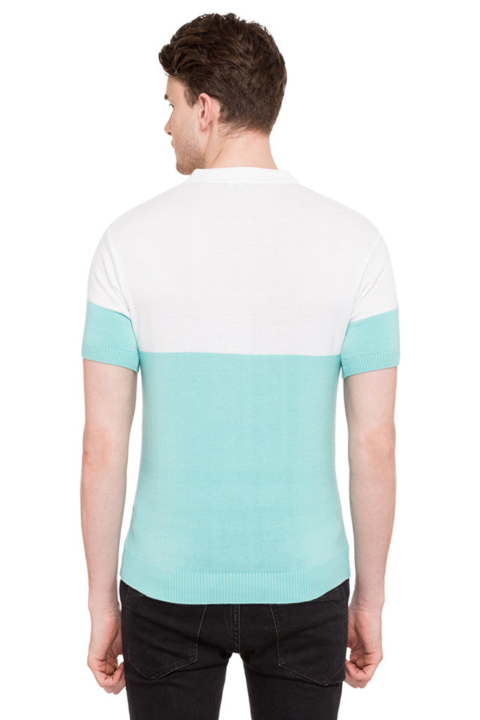 Colorblocked Polo Tee-3