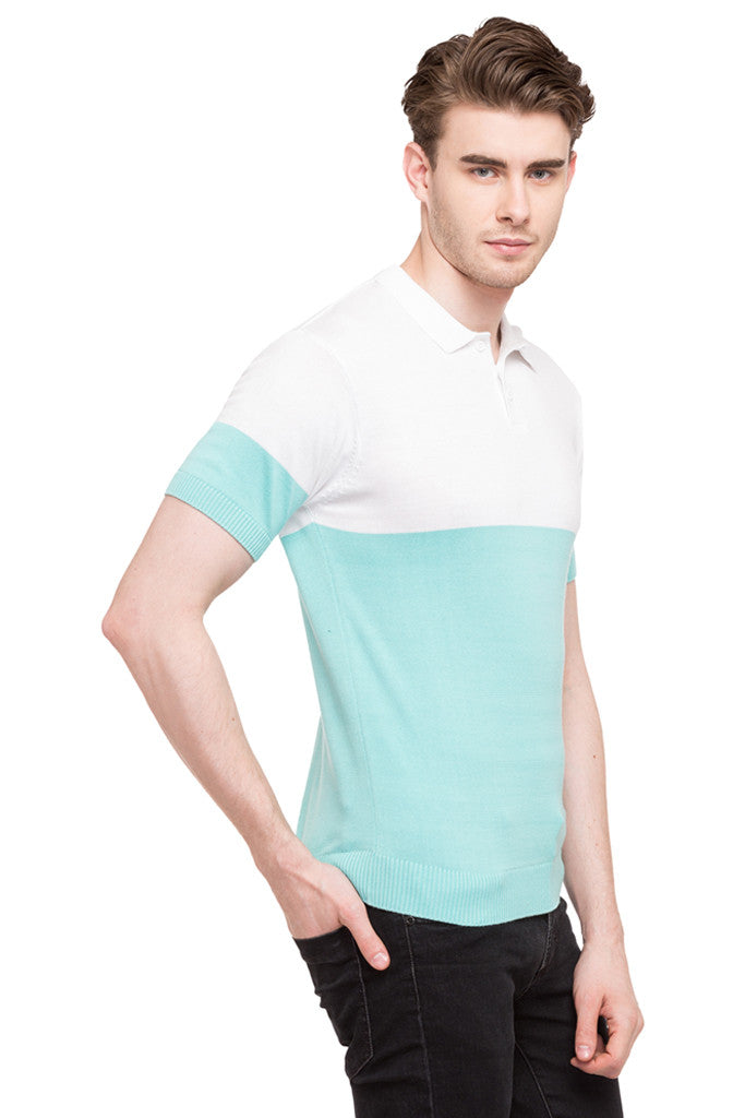Colorblocked Polo Tee-4