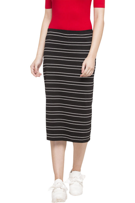 Striped Midi Skirt-1