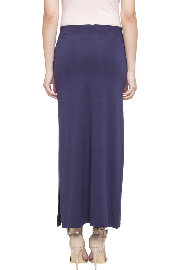 Side Slit Long Skirt-3