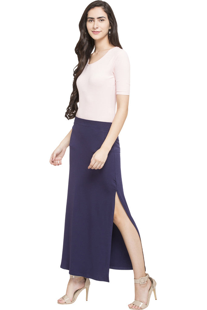 Side Slit Long Skirt-5