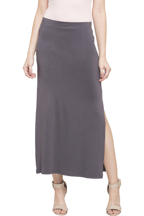 Side Slit Long Skirt-1