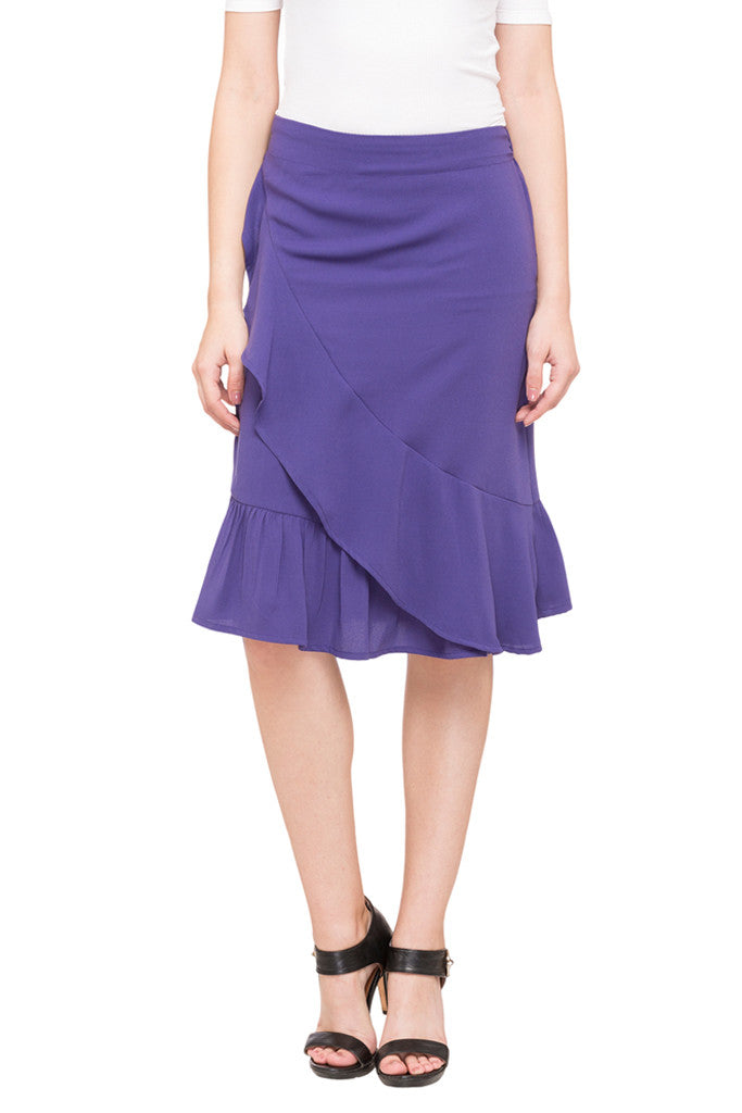 Solid Layered Skirt-1