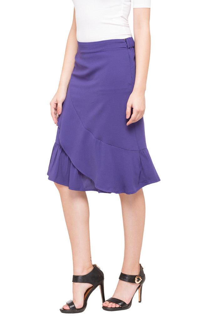 Solid Layered Skirt-2