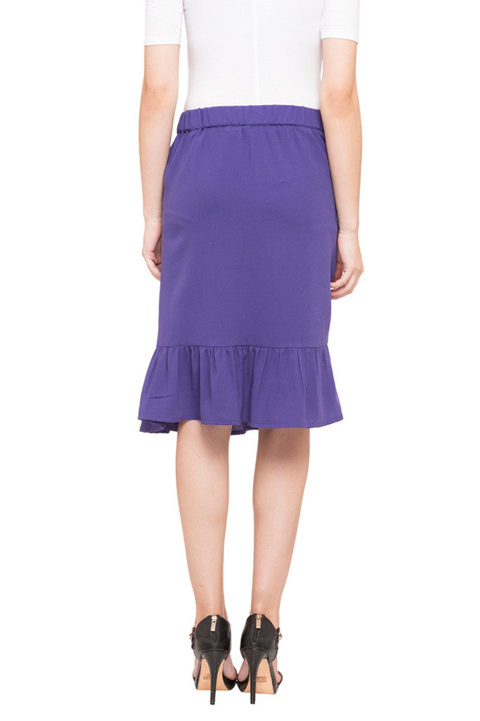 Solid Layered Skirt-3