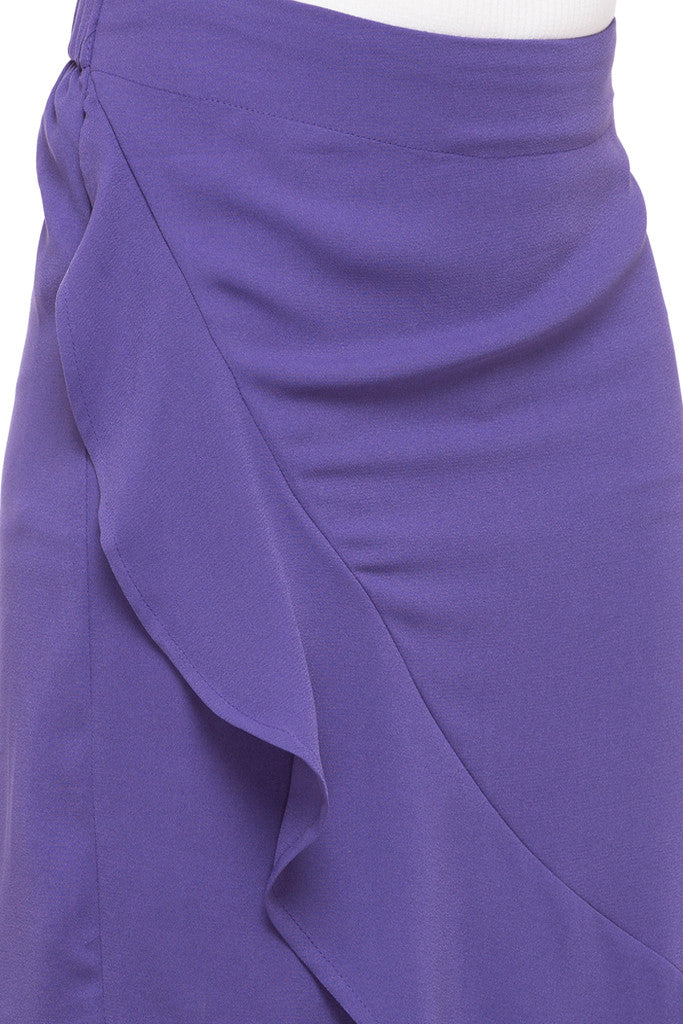 Solid Layered Skirt-6
