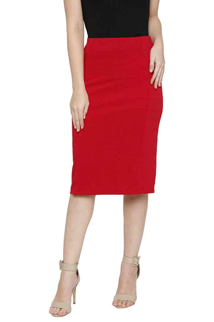 Solid Pencil Skirt-1
