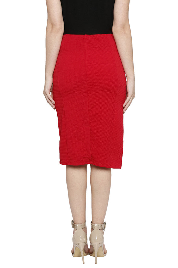 Solid Pencil Skirt-3