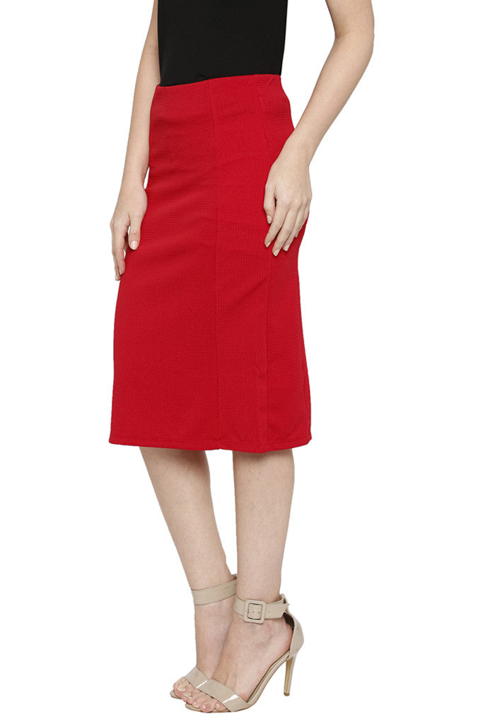Solid Pencil Skirt-4
