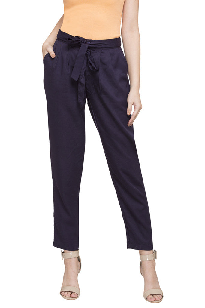 Tie-Up Straight Fit Pants-1