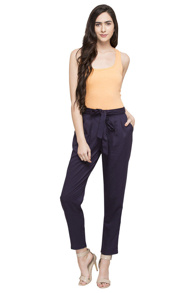 Tie-Up Straight Fit Pants-2