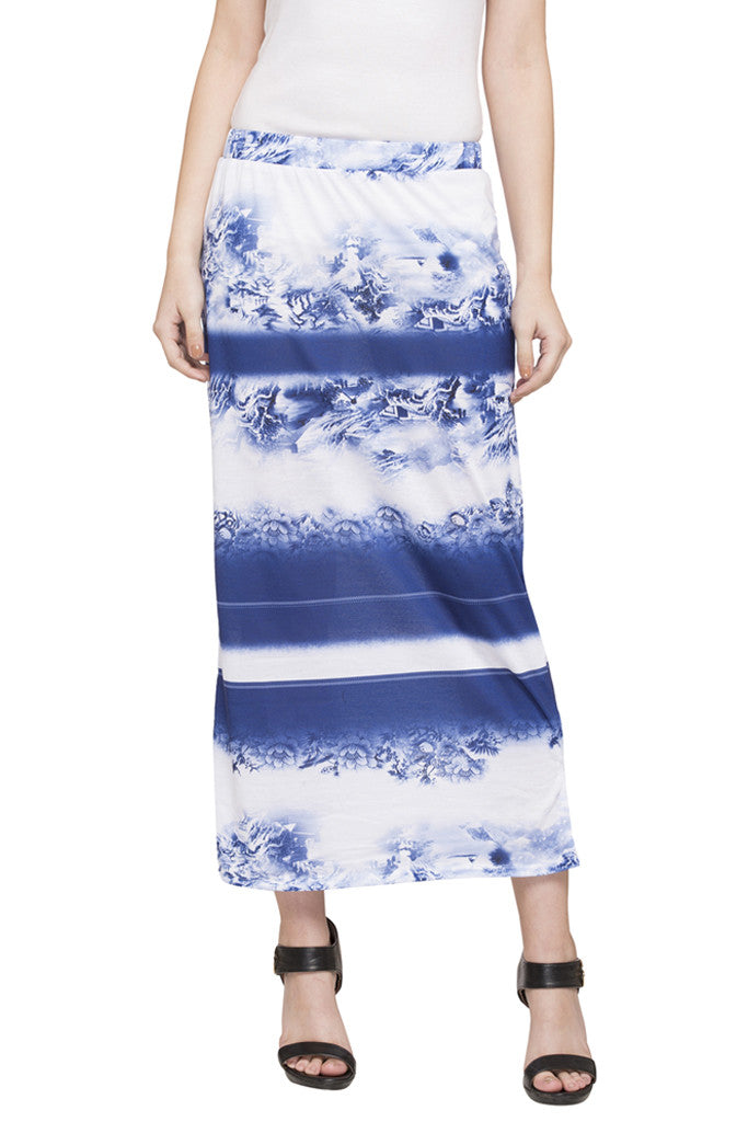 Printed Column Skirt-1