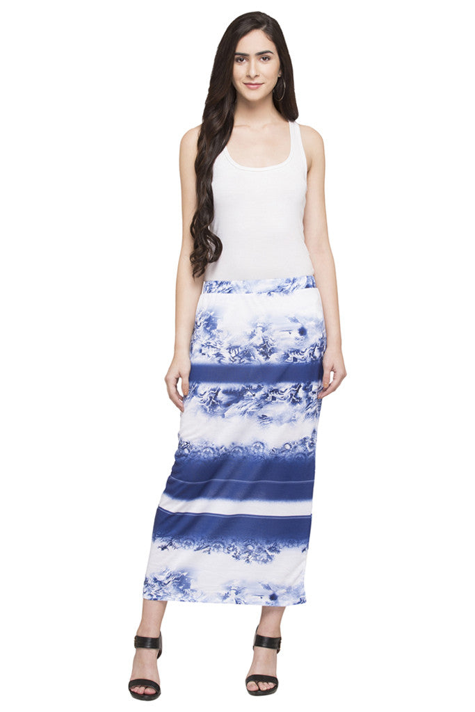 Printed Column Skirt-2