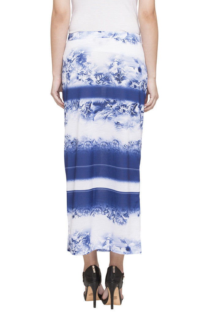 Printed Column Skirt-3