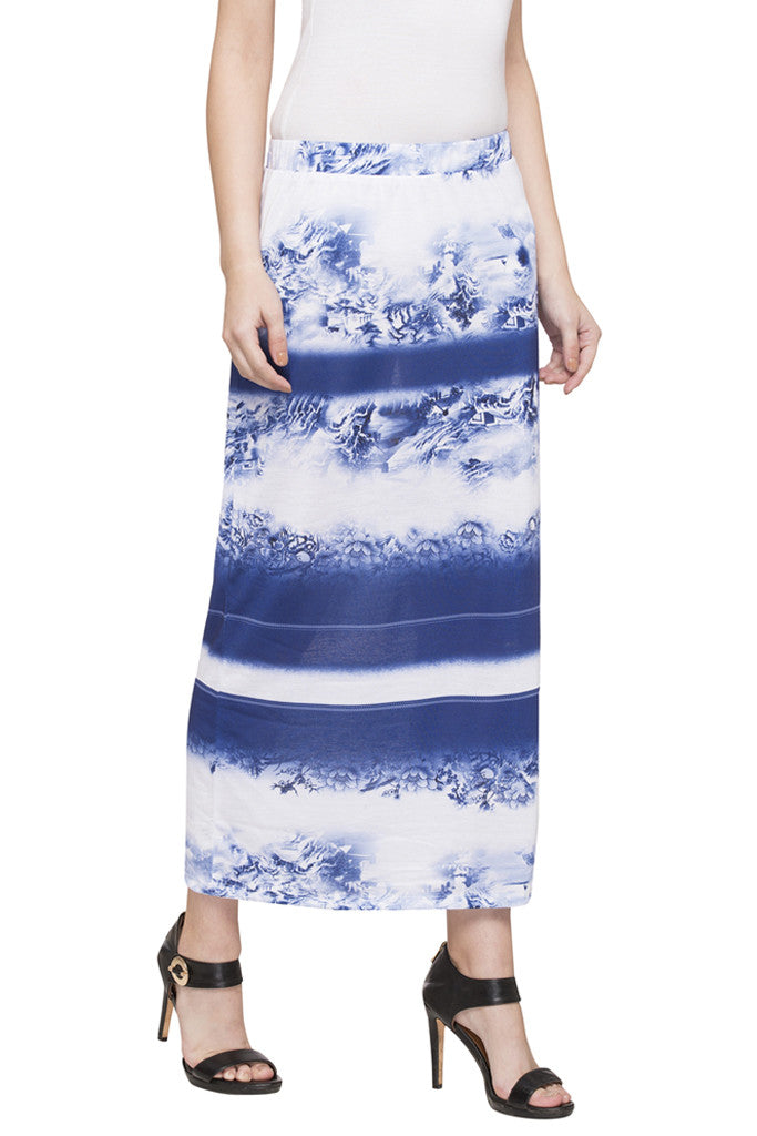 Printed Column Skirt-4