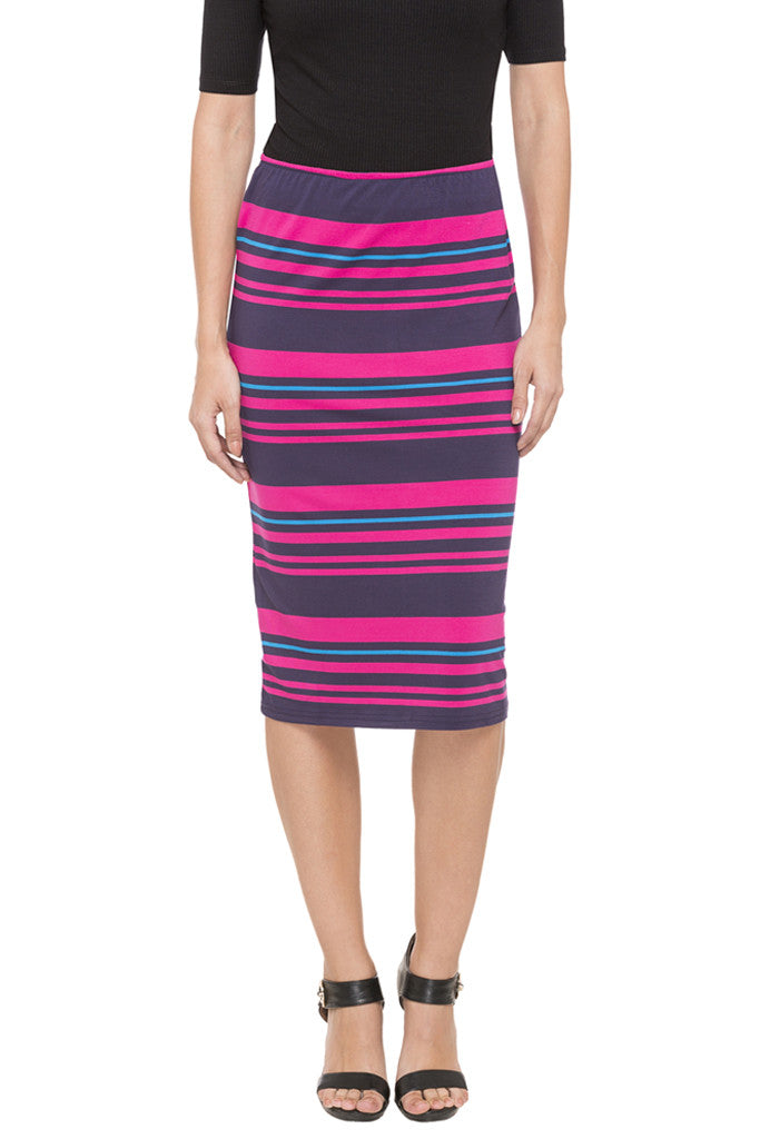 Striped Pencil Skirt-1