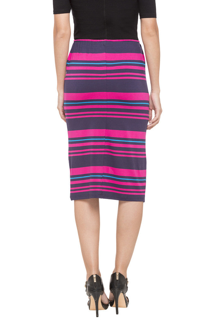 Striped Pencil Skirt-3