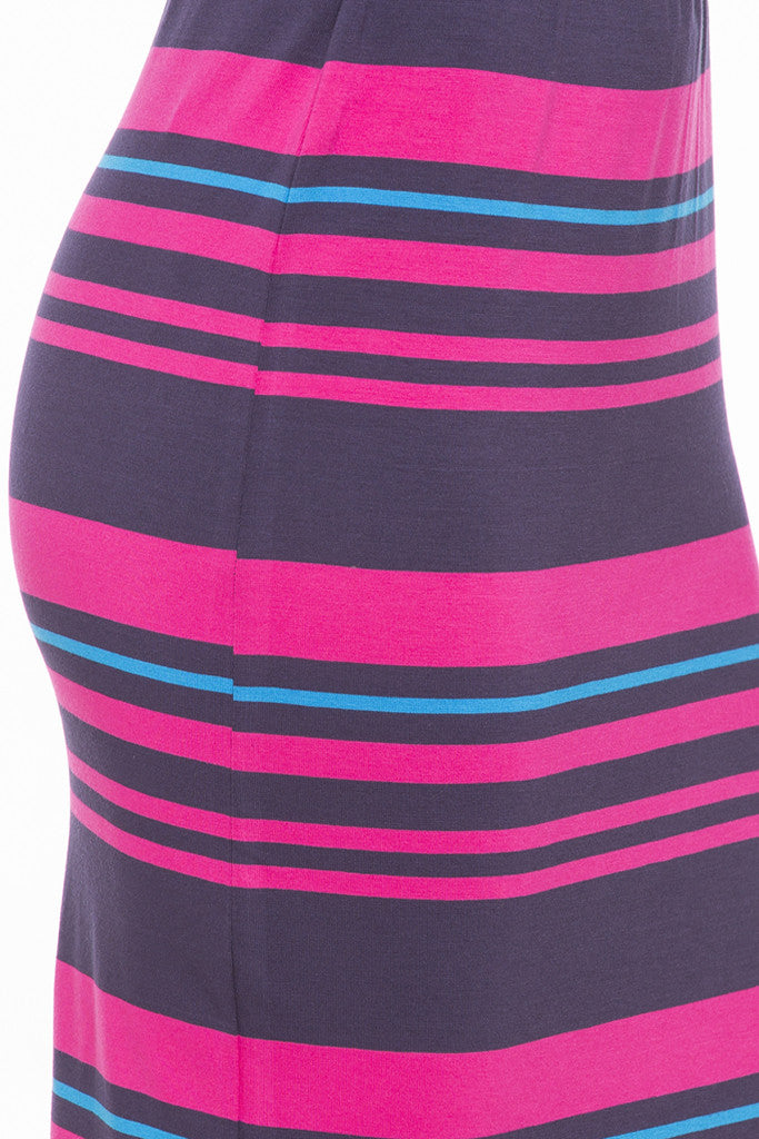 Striped Pencil Skirt-6