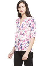 Load image into Gallery viewer, High Low Floral Top-2