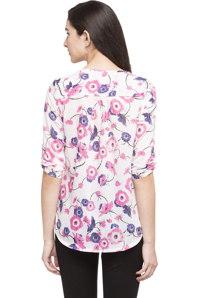 High Low Floral Top-3
