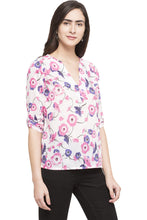 Load image into Gallery viewer, High Low Floral Top-4
