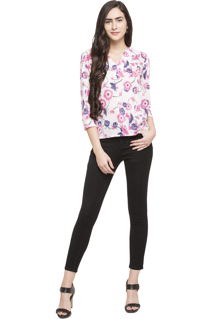 High Low Floral Top-5
