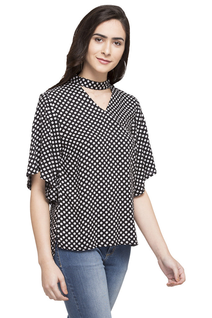Polka Dot Print Top-4