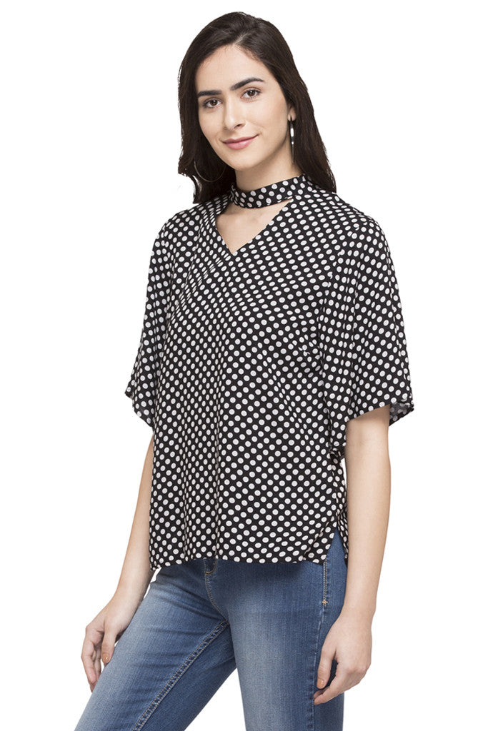 Polka Dot Print Top-5