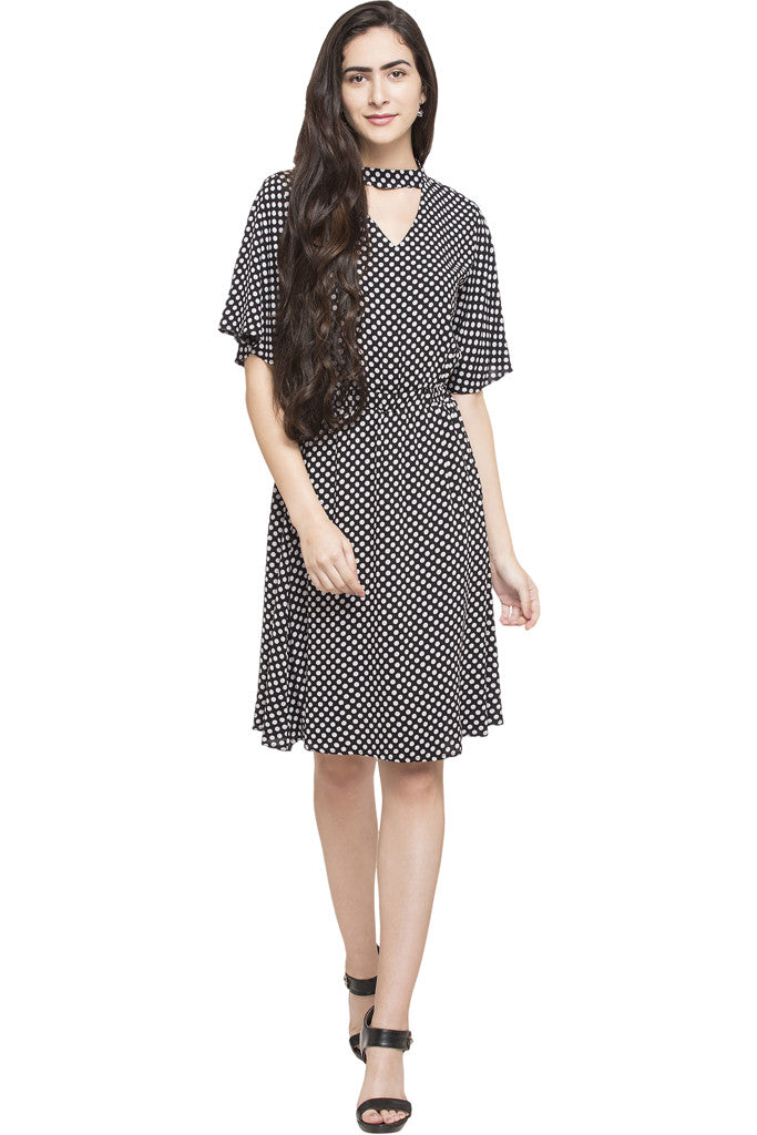 Flared Choker Dress-1