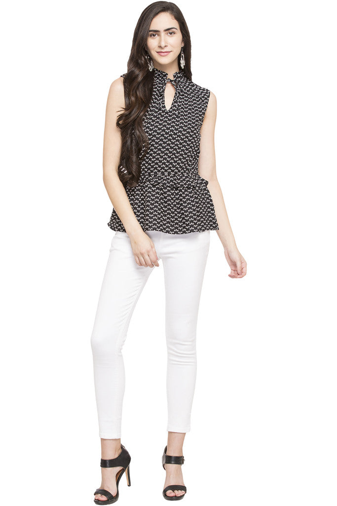 Printed Ruffle Top-5