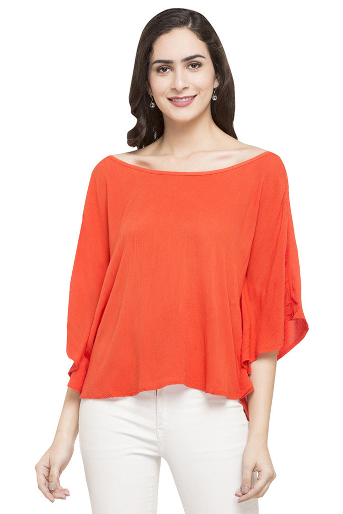 Solid Boat Neck Top-1
