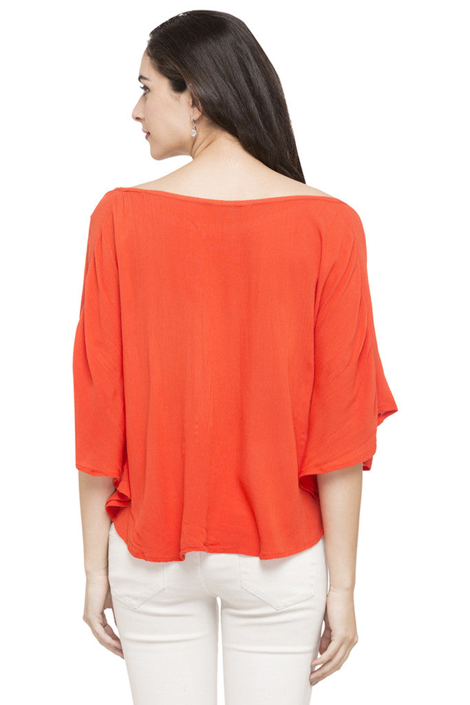 Solid Boat Neck Top-3