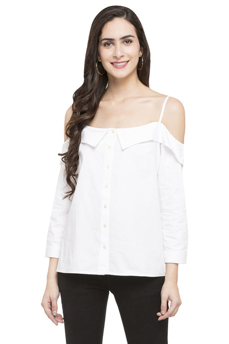 Cold Shoulder Shirt-1