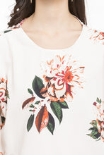 Load image into Gallery viewer, Cold Shoulder Tie Up Floral Print Top-6