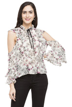 Load image into Gallery viewer, Floral Print Ruffled Top-1