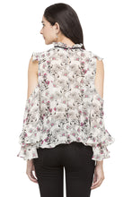 Load image into Gallery viewer, Floral Print Ruffled Top-3