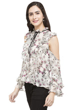 Load image into Gallery viewer, Floral Print Ruffled Top-5