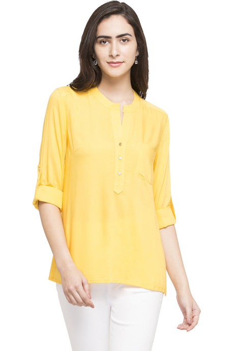 Y-neck Solid Tunic-1