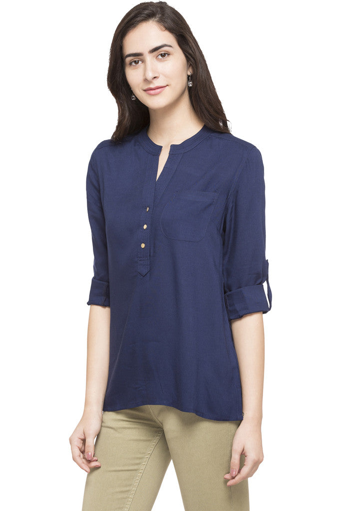 Y-neck Solid Tunic-2