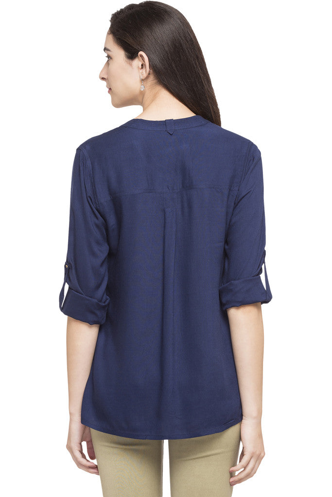 Y-neck Solid Tunic-3