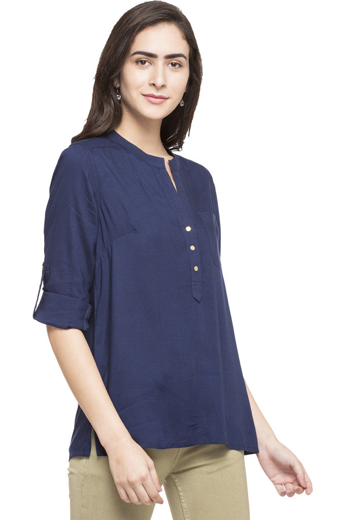 Y-neck Solid Tunic-4