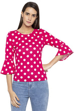 Load image into Gallery viewer, Polka Dot Bell Sleeved Top-1