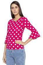 Load image into Gallery viewer, Polka Dot Bell Sleeved Top-4