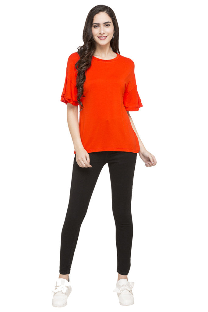Layered Sleeve Solid Top-2