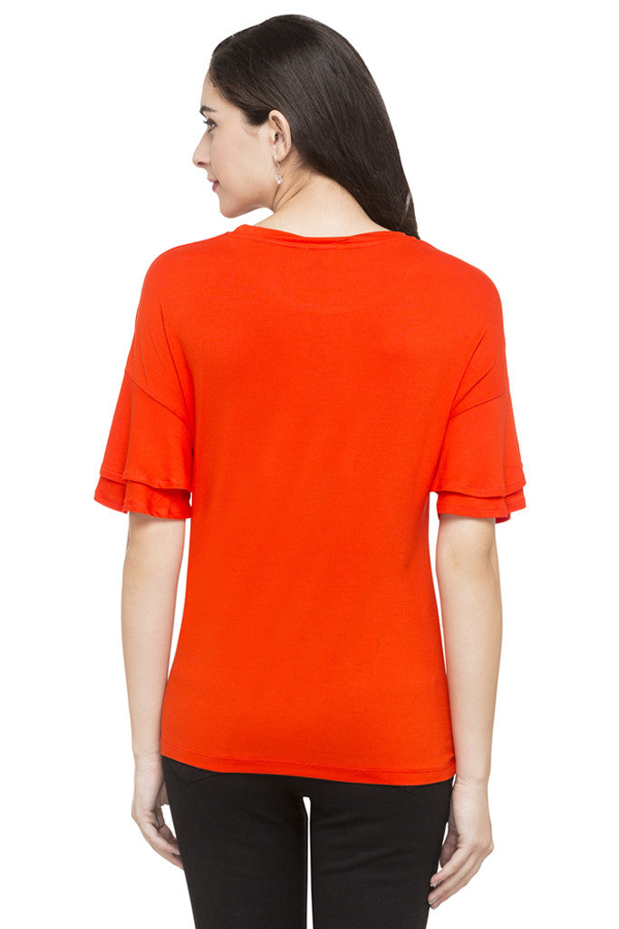 Layered Sleeve Solid Top-3