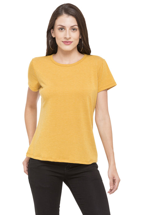 Round Neck Basic Solid T-shirt-1