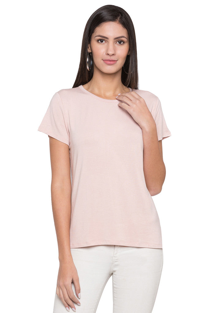 Solid Round Necked T-shirt-1