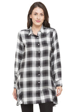 Load image into Gallery viewer, Longline Checked Shirt-1